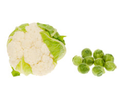 Cauliflower and Brussel Sprouts
